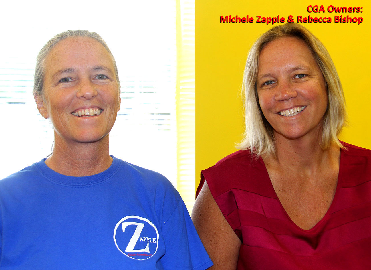 Carolina Gymnastics Academy owners Michele and Rebecca